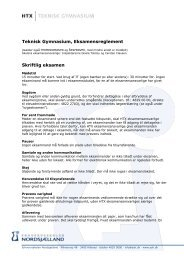 Eksamensreglement - Erhvervsskolen Nordsjælland