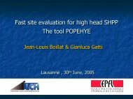 Fast site evaluation for high head SHP plants - ESHA