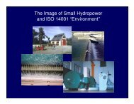 The Image of Small Hydropower and ISO 14001 ?Environment? - ESHA