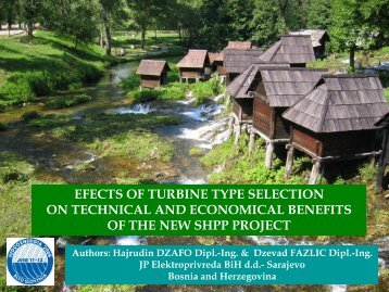 efects of turbine type selection on technical and economical ... - ESHA