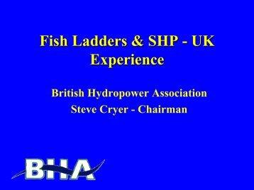 Fish Ladders & SHP - UK Experience - ESHA