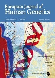 Abstracts - European Society of Human Genetics