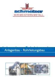 Anlagenbau - Rohrleitungsbau - Schmelzer