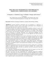 best practice methodology for springback prediction ... - ESI Group