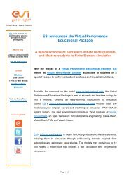 Virtual Performance Education - ESI Group