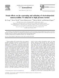 Strain effects on the coarsening and softening of electrodeposited ...
