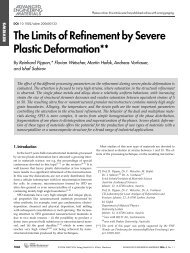 The Limits of Refinement by Severe Plastic Deformation**