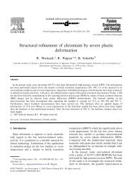 Structural refinement of chromium by severe plastic deformation