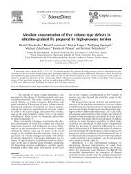 Absolute concentration of free volume-type defects in ultrafine ...