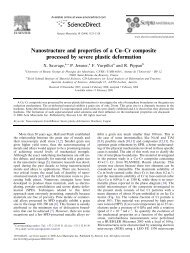 Nanostructure and properties of a Cu–Cr composite processed by ...