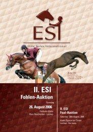2006 - ESI II. Fohlen Katalog (.pdf, 10,8 MB) - ESI - Elite Sales ...