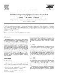 Strain hardening during high pressure torsion deformation