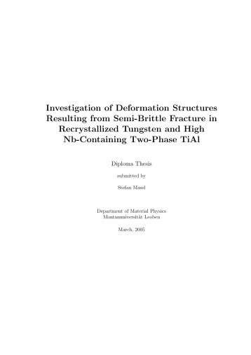 Investigation of Deformation Structures Resulting from Semi-Brittle ...