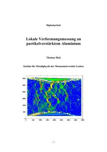 Lokale Verformungsmessung an partikelverstärktem Aluminium