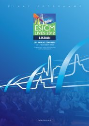Online Final Programme - ESICM