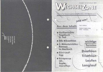 Ausgabe 1/94 Februar 1994 - ASC Konstanz ev
