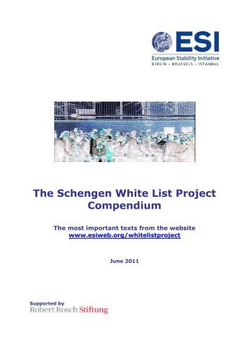 The Schengen White List Project Compendium