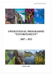 "OPERATIONAL PROGRAMME ""ENVIRONMENT"" 2007 – 2013"