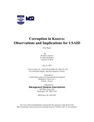 Assessment of Corruption in Kosovo