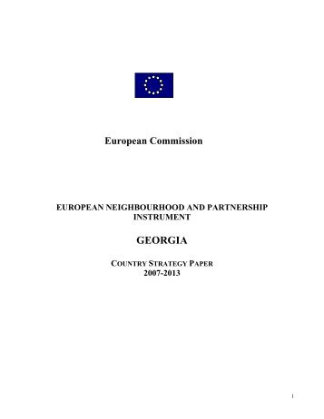 Georgia - Country strategy paper 2007 - 2013 - European Commission