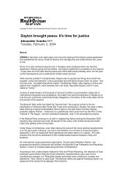 Dayton brought peace. It's time for justice