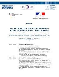 agenda of the conference - European Stability Initiative - ESI