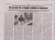 """""""BE-ja nuk ılo ta lejojë izolimin e Kosovës"""""""
