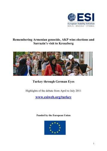 The Turkey Debate in Germany