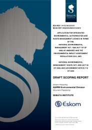 Final Draft Scoping Report - Eskom