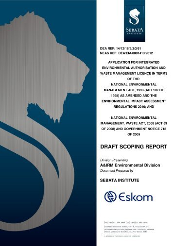 Final Draft Scoping Report - Eskom