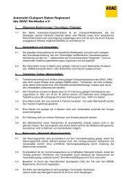 Automobil-Clubsport Slalom Reglement des ADAC Nordbaden e.v.