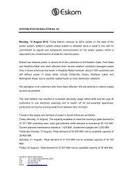 Bulletin 62 - Eskom