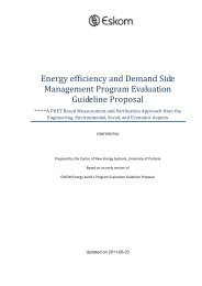 Energy efficiency and Demand Side Management Program ... - Eskom
