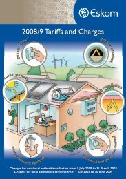2008/9 Tariffs and Charges - Eskom