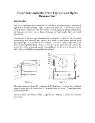 Experiments using the Cenco Physics Laser Optics Demonstrator