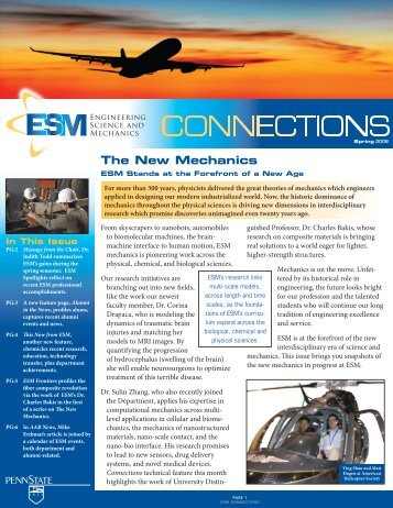 The New Mechanics - Engineering Science and Mechanics - Penn ...