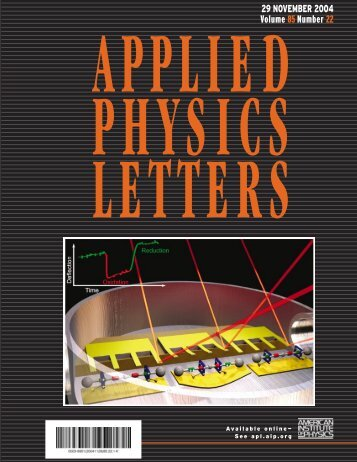 applied physics letters - Engineering Science and Mechanics