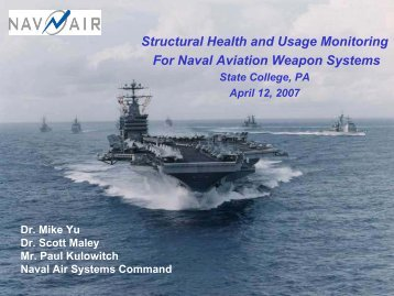 Structural Health and Usage Monitoring For Naval Aviation Weapon ...