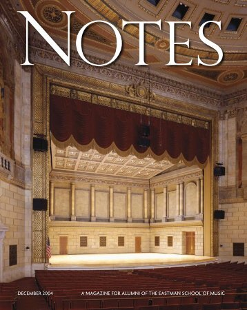 Eastman Notes June 2004 - Eastman School of Music - University of ...
