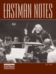 2001002 Eastman Notes - Eastman School of Music - University of ...