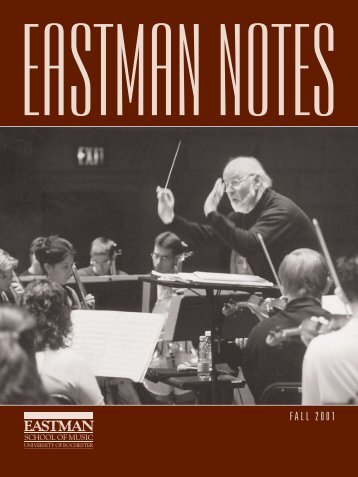 2001002 Eastman Notes - Eastman School of Music - University of ...