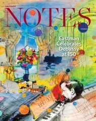 Eastman Notes | Summer 2012 - Eastman School of Music ...