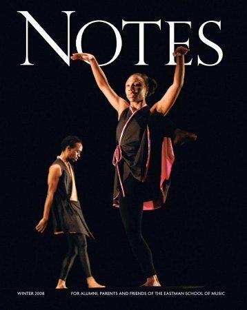 Eastman Notes July 2006 - Eastman School of Music - University of ...