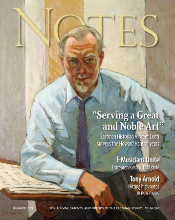 Eastman Notes July 2006 - Eastman School of Music - University of ...