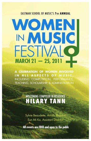 Download festival booklet (pdf) - Eastman School of Music ...