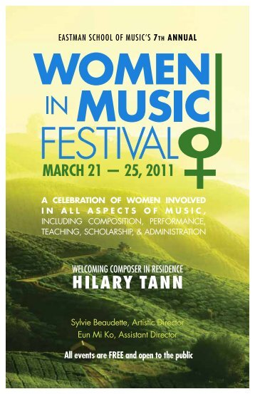 Download festival booklet (pdf) - Eastman School of Music ...