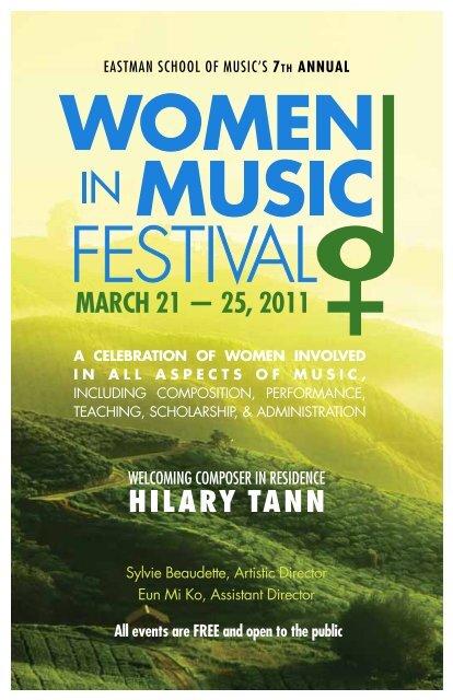 Download festival booklet (pdf) - Eastman School of Music