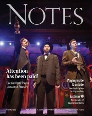 EASTMAN NOTES | Winter 2012 - Eastman School of Music ...