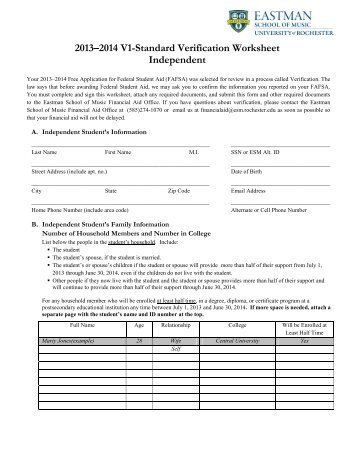 independent standard verification form. Black Bedroom Furniture Sets. Home Design Ideas
