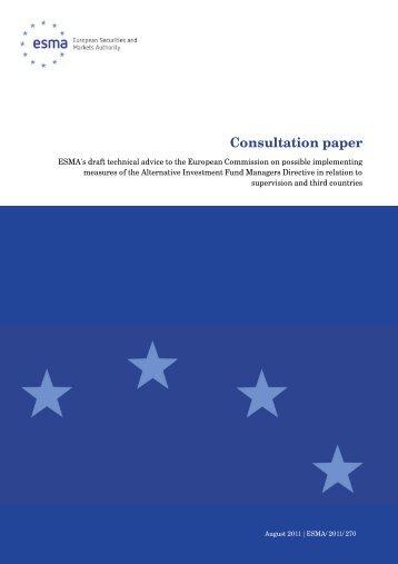 ESMA's draft technical advice to the European ... - Esma - Europa